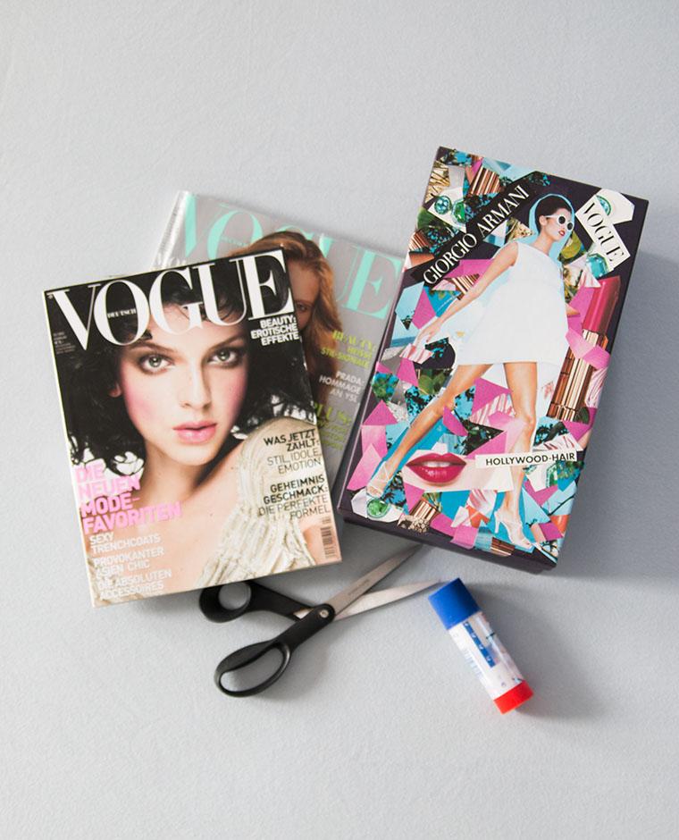 {DIY} Beautybox aus alten Zeitschriften Bild 1