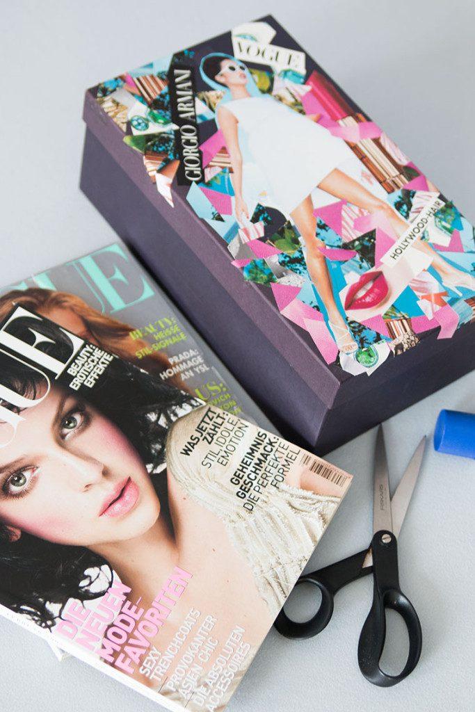 {DIY} Beautybox aus alten Zeitschriften Bild 2