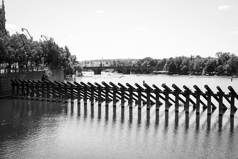 Blick über Moldau, Prag