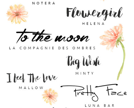 8 Wonderful Handwritten Fonts