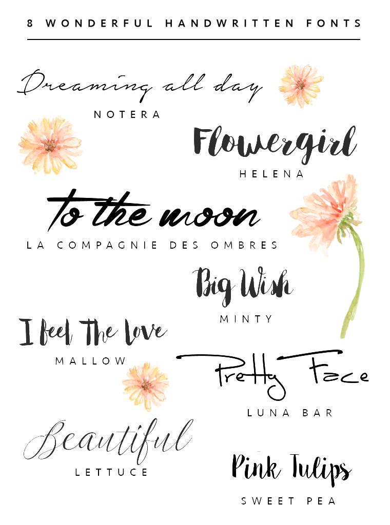 8 Wonderful Handwritten Fonts