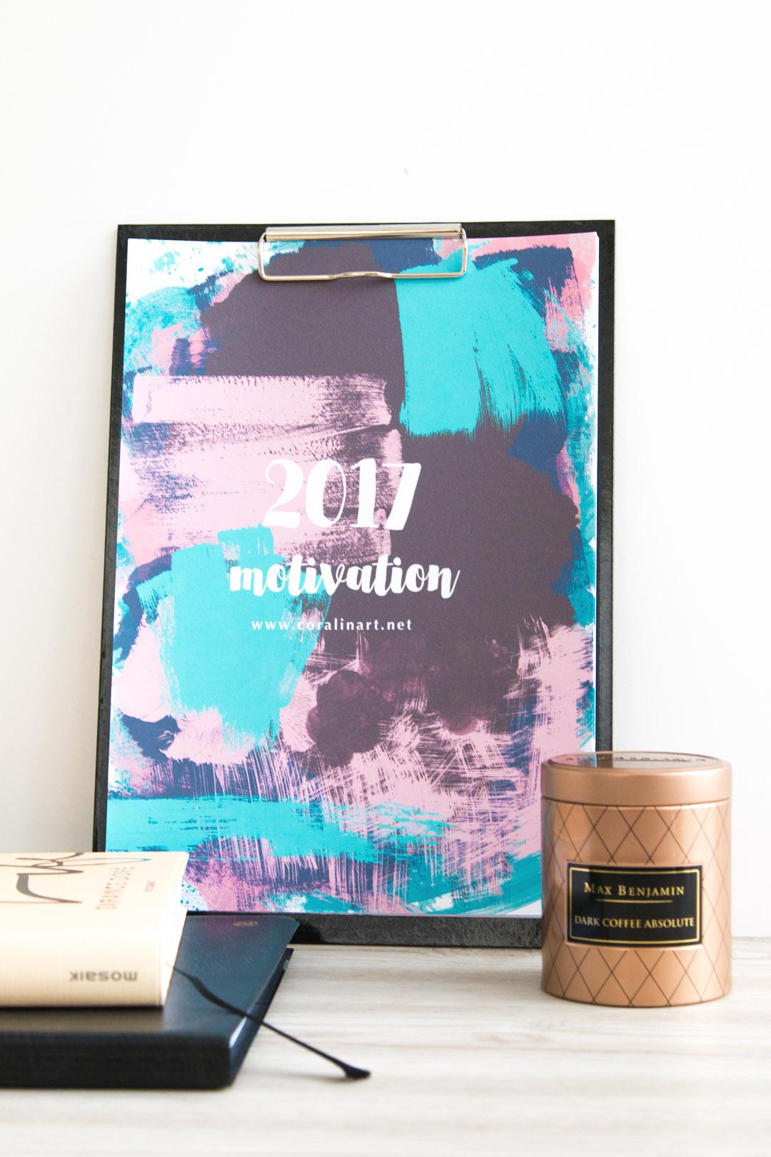 Free Printable 2017 Calendar – Motivation für jeden Monat