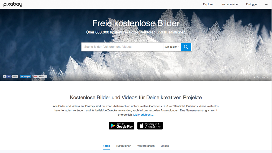 5 Quellen für kostenlose Stockfotos - Pixabay