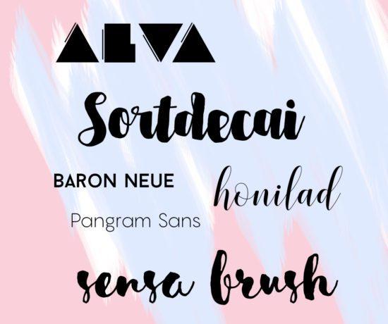 7 Free Modern Fonts