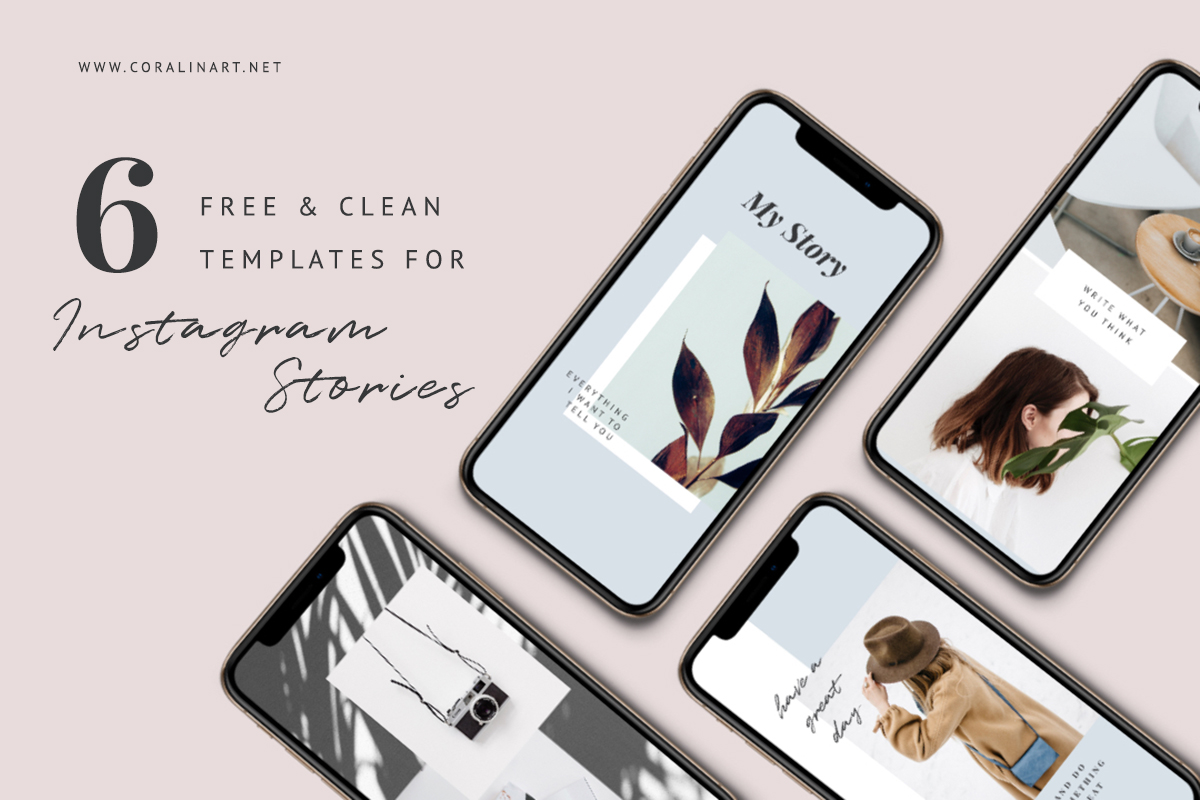Freebie: 6 clean Templates for Instagram Stories