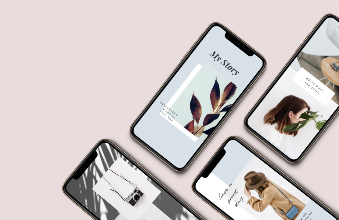 Freebie: 6 clean Templates for Instagram Stories